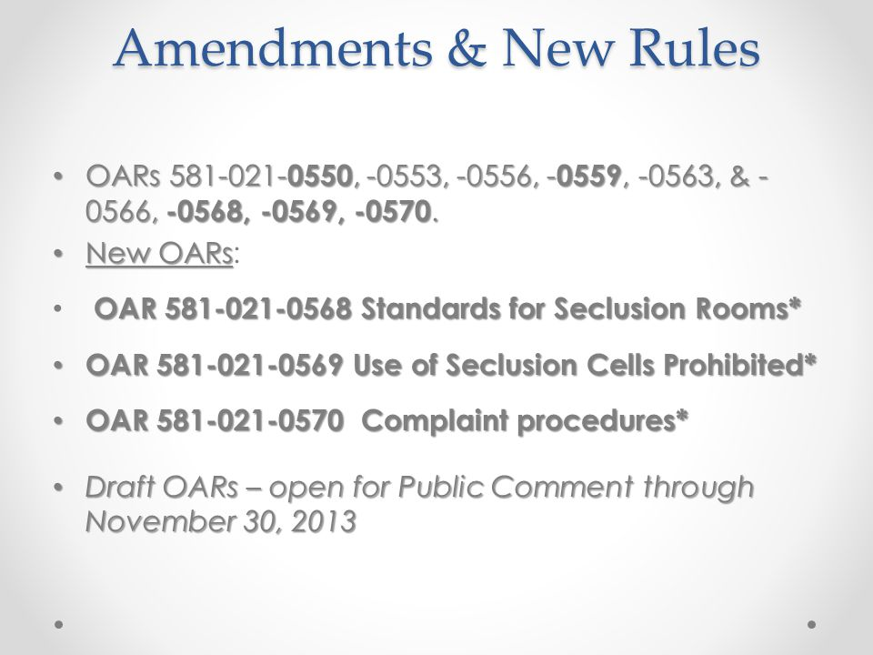 HB 2585 Process to submit Complaints Process to submit Complaints regarding the use of Physical Restraint and Seclusion.