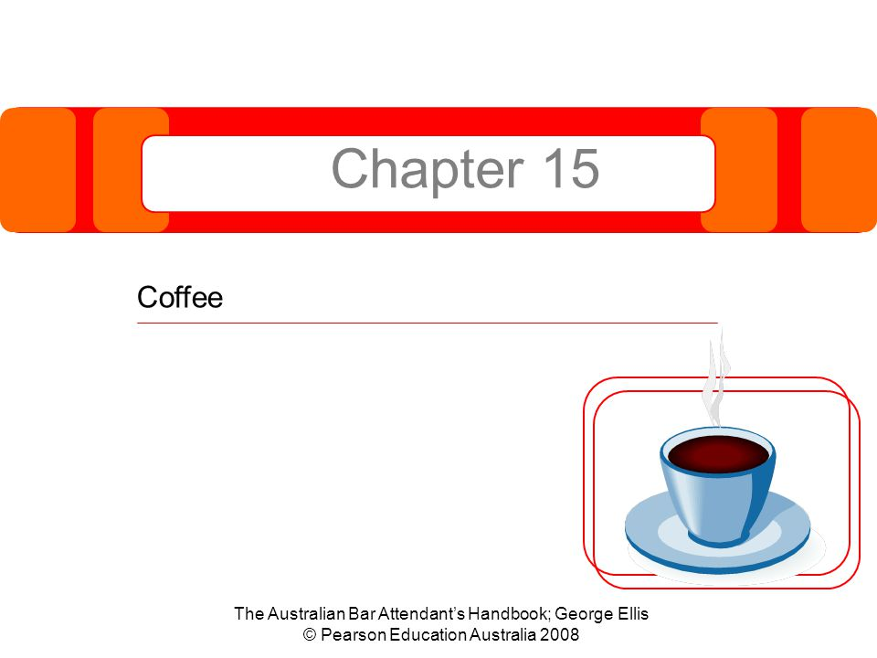 Competency  This chapter supports the delivery of the following competency standard: –SITHFAB012A Prepare and serve espresso coffee