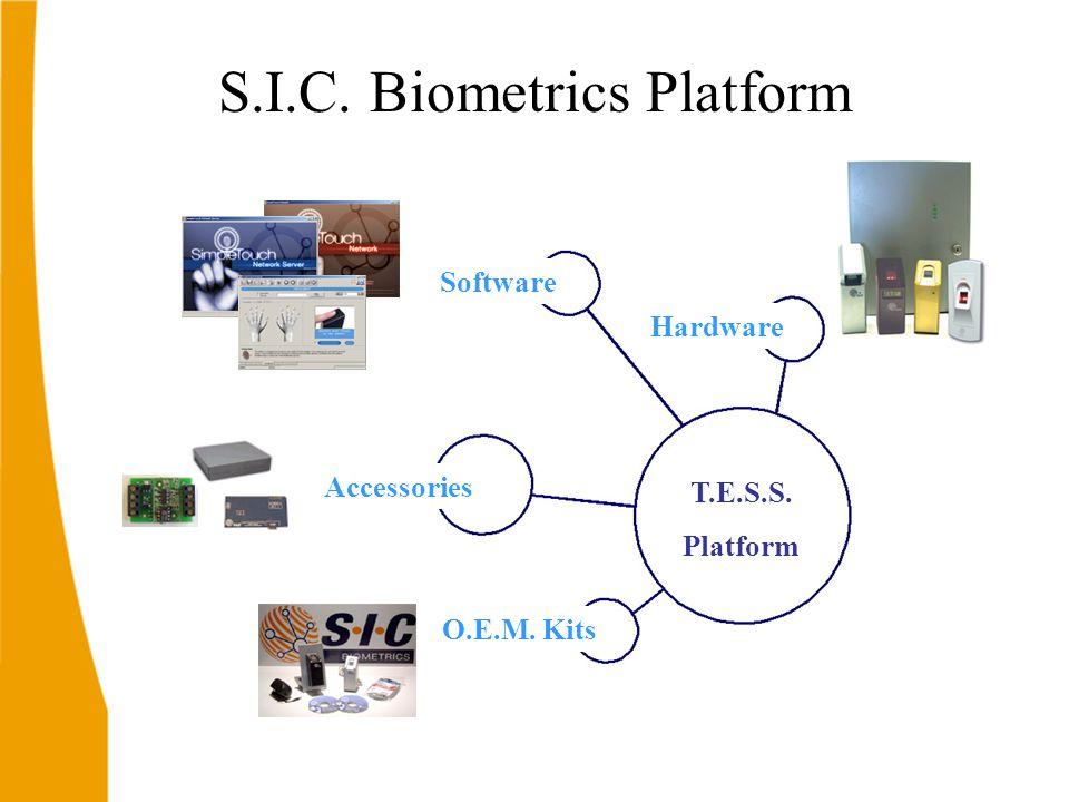 S.I.C. Biometrics Platform Software Accessories Hardware O.E.M. Kits T.E.S.S. Platform