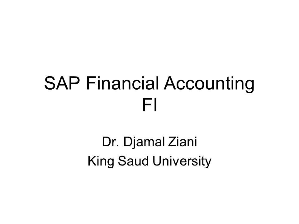 FI Overview FI AP AR AM GL CON Special Ledger FI: Financial Controlling module GL: General Ledger AM: Asset Management AR: Account Receivable AP: Account Payable CON: Controlling