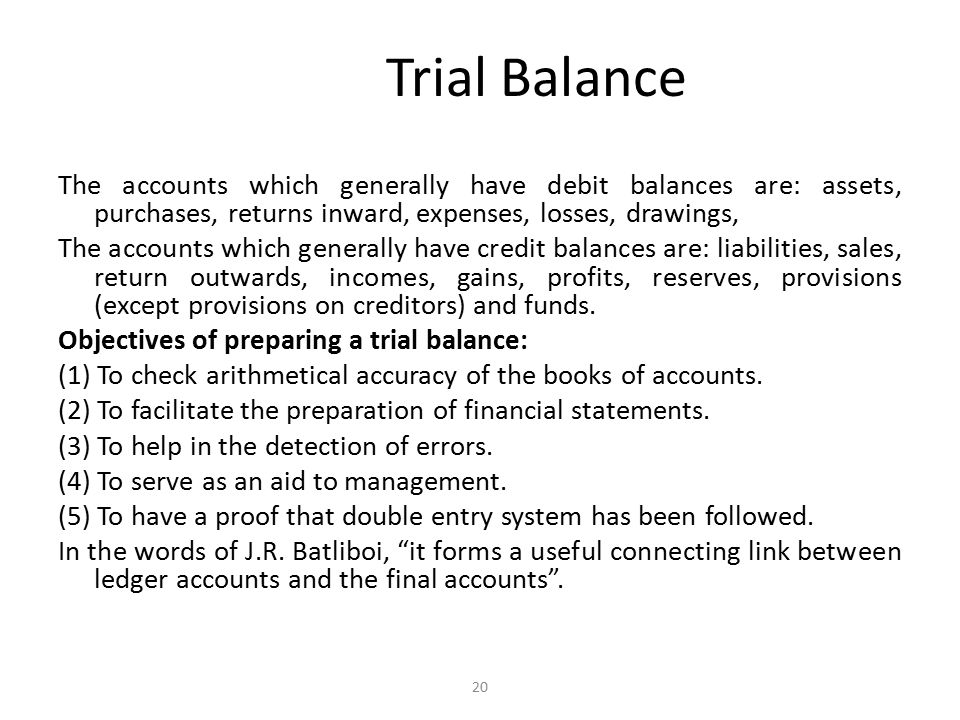 Trial Balance Errors not disclosed by the agreement of trial balance: Sometimes both the sides of a trial balance agree but there are chances that some errors may still be there.