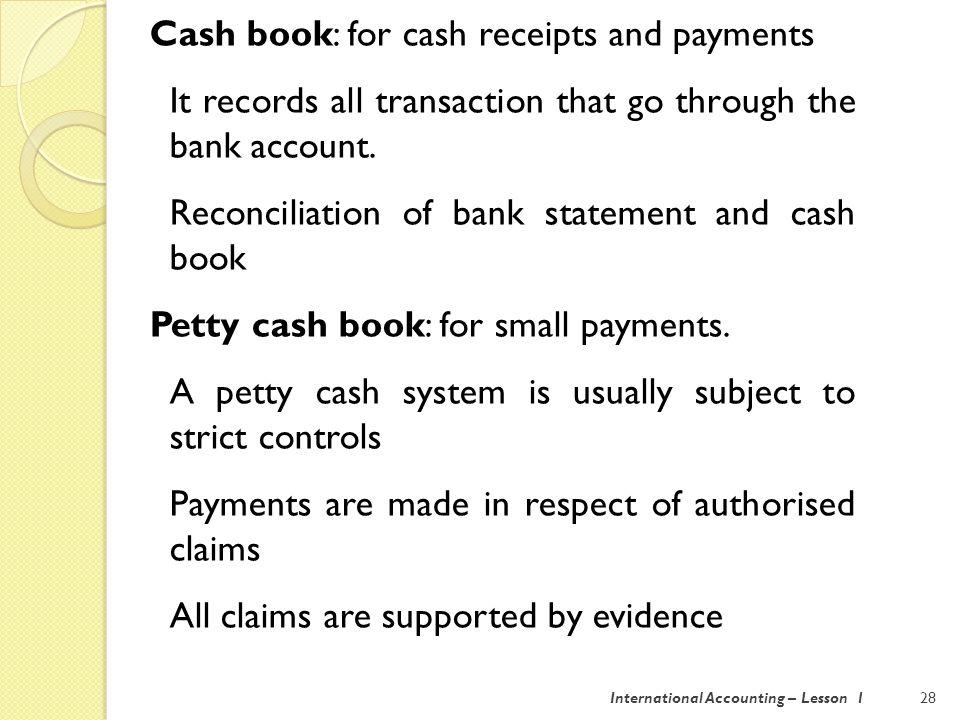 International Accounting – Lesson 129 2.