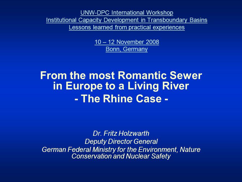 Rhine river basin in Europe