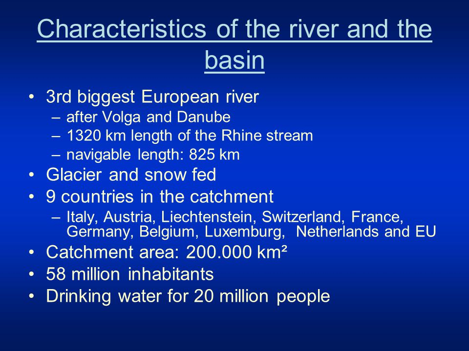 Countries in the river basin