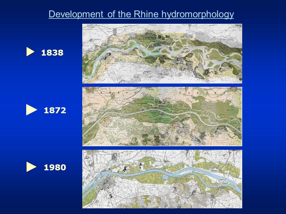 Situation in the 1970s In the midth of the 20th century the chemical and ecological status of the Rhine had deteriorated dramatically –industrial development –increase of agricultural production more fertilizers 1935 the salmon had disappeared –only 20 fish species left Since the 1950s it had been more and more difficult to use the Rhine as drinking water ressource –phenol pollution –too salty