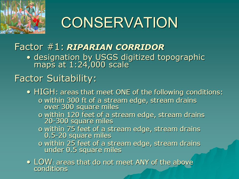 Areas of HIGH SUITABILITY for Riparian Corridors