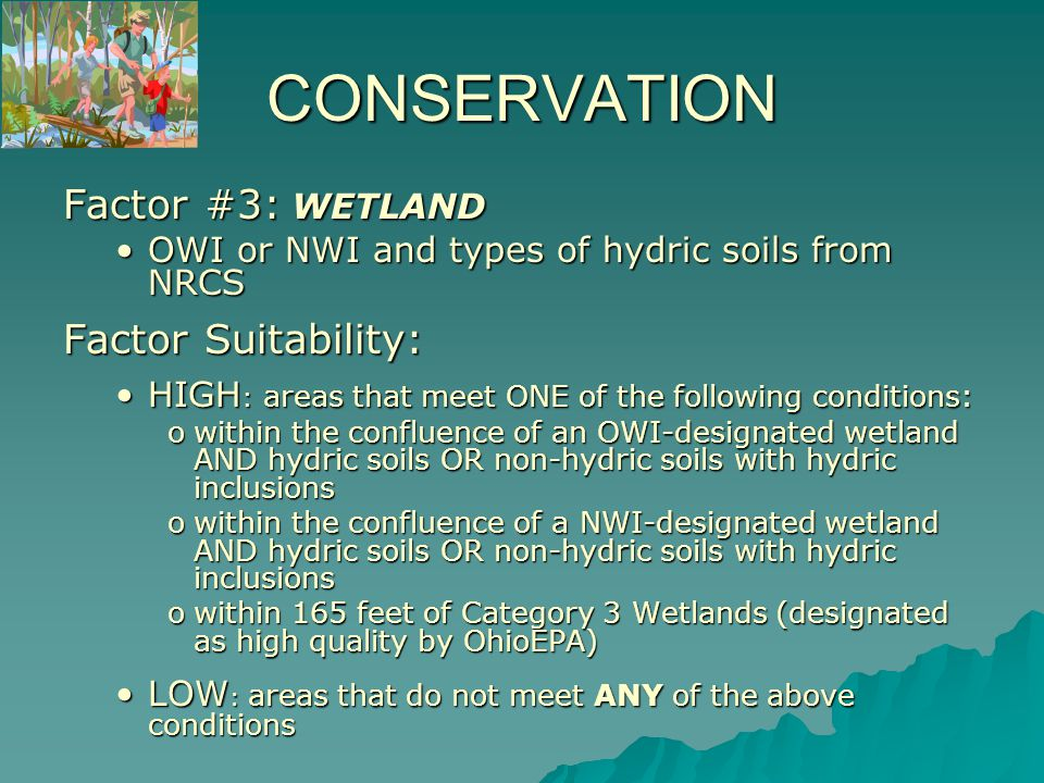 Areas of HIGH SUITABILITY for Wetlands
