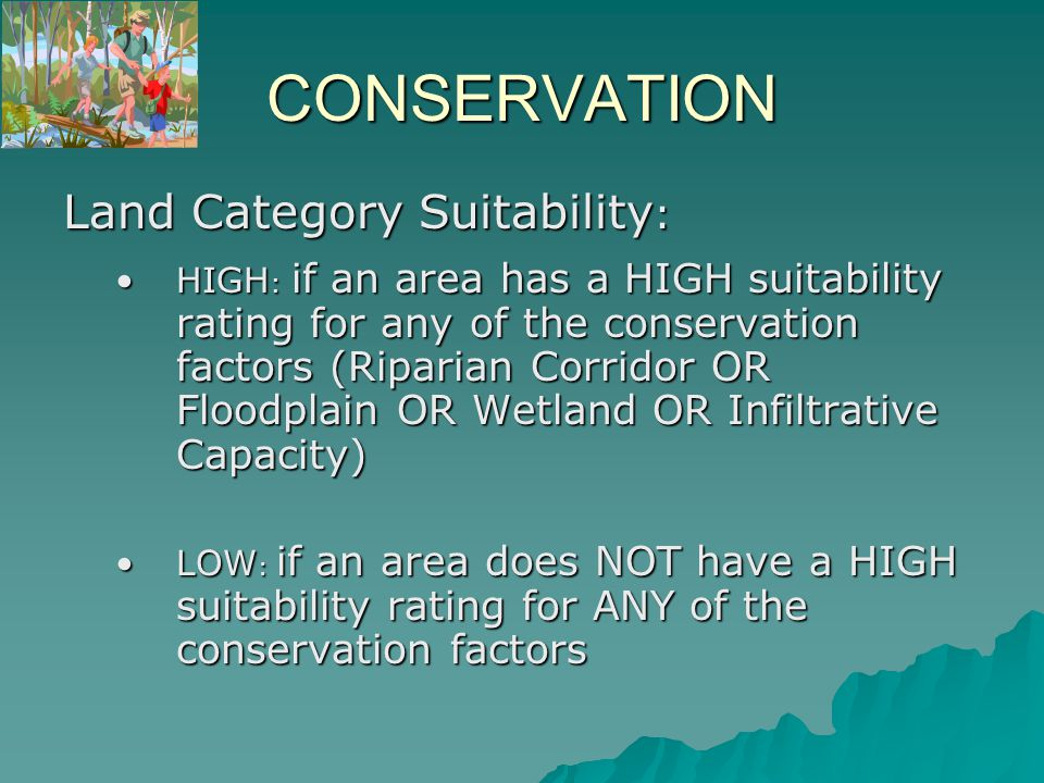 All Areas of HIGH SUITABILITY for CONSERVATION