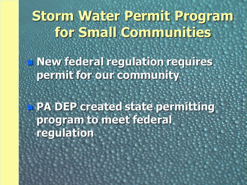 What Does Our Permit Require.