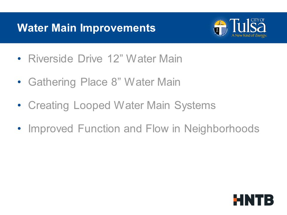 Water Main Improvements Pre Project Water Main Network