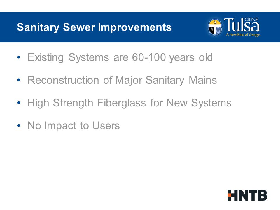 Sanitary Sewer Improvements Pre-Project Sanitary Sewer Network