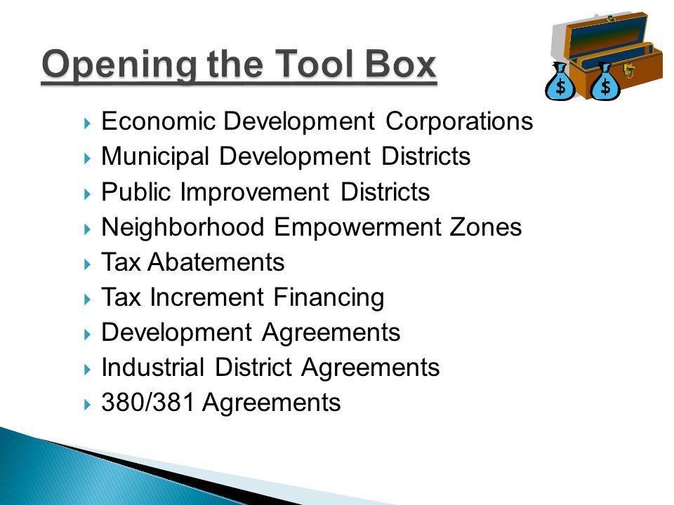 Economic Development Corporations