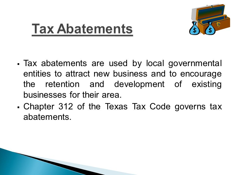 Must adopt a resolution indicating intent to participate in tax abatements.
