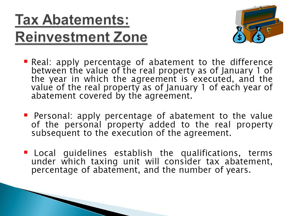  Taxing unit adopts resolution stating that it elects to participate in tax abatement.