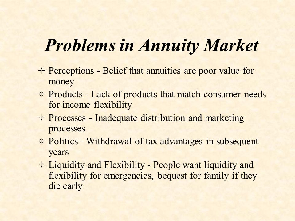 Annuity Products Types and Additional Benefits