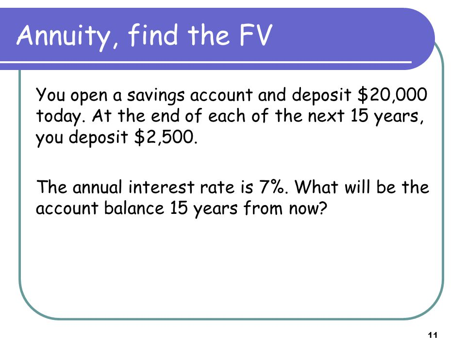 12 Annuity, find the PMT You are trying to borrow $200,000 to buy a house on a conventional 30-year mortgage with monthly payments.