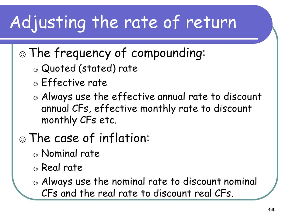 Effective to Effective: Example The annual interest rate is 8%.