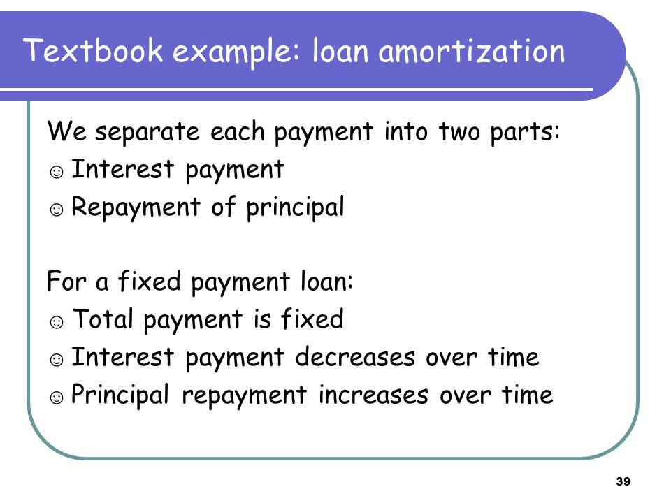 40 Amortization schedule table Date Beginning Balance Total Payment Interest (10%)Principal End Balance 08,000.00 1 2,110.38 2 3 4 5