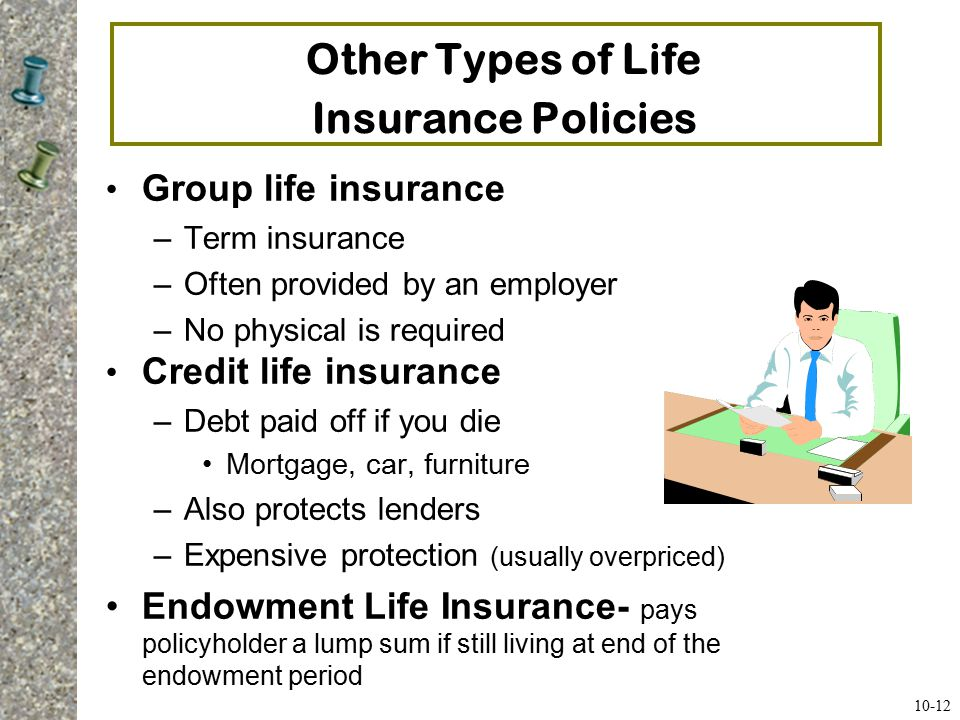 Key Provisions in a Life Insurance Policy Naming your beneficiary and contingent beneficiaries (those who will receive benefits upon the insured's death) Incontestability clause  after the policy has been in force for a specified period, the company can't dispute its validity for any reason (usually 2 years) Length of grace period for late payments Reinstatement of a lapsed policy if it has not been turned in for cash (must qualify again and pay overdue premiums) Non-forfeiture clause allows you to keep accrued benefits in a whole life policy if you drop the policy Misstatement of age provision (benefits paid on real age) Policy loan provision to borrow against cash value Suicide clause during first two years (only get back premiums) Policy rider modifies the coverage by adding or excluding conditions or altering benefits 10-13