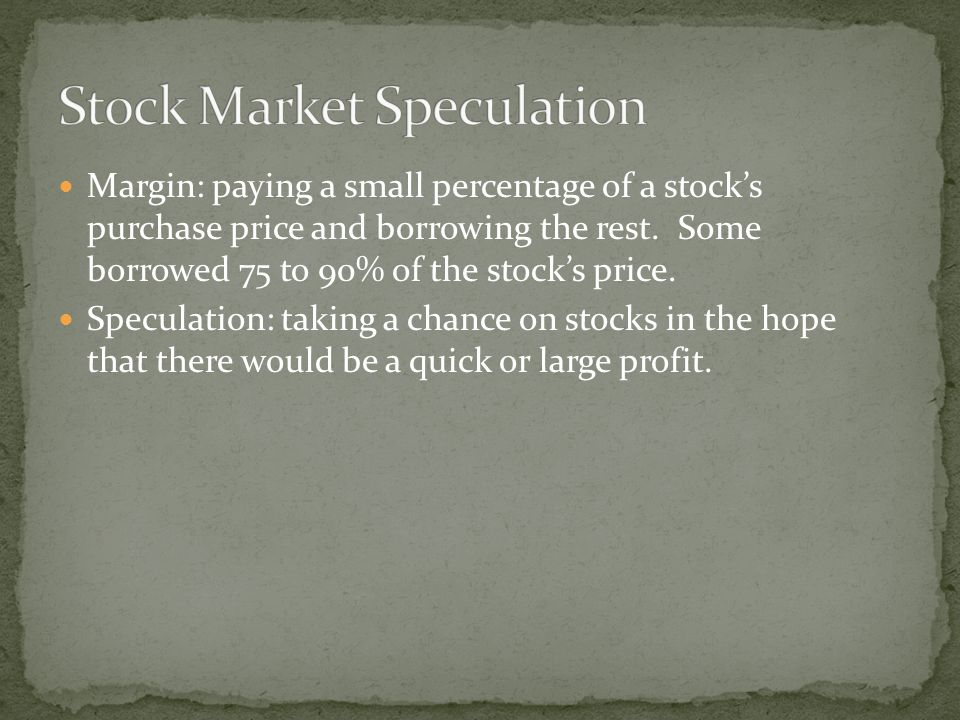 Oct 23 – Steady decline began in the market Oct 24 – Black Thursday collapse in the market but wealthy men such as JP Morgan, John D.