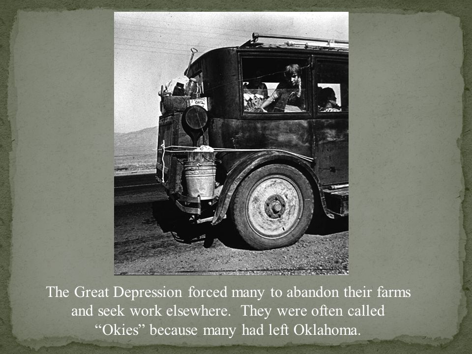 Amundson family after leaving a drought stricken area of North Dakota in 1940.
