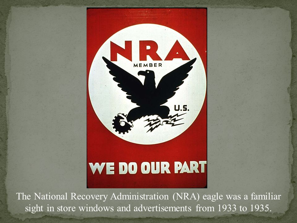 NRA poster urging Americans to spend money to stimulate the economy during the Great Depression.
