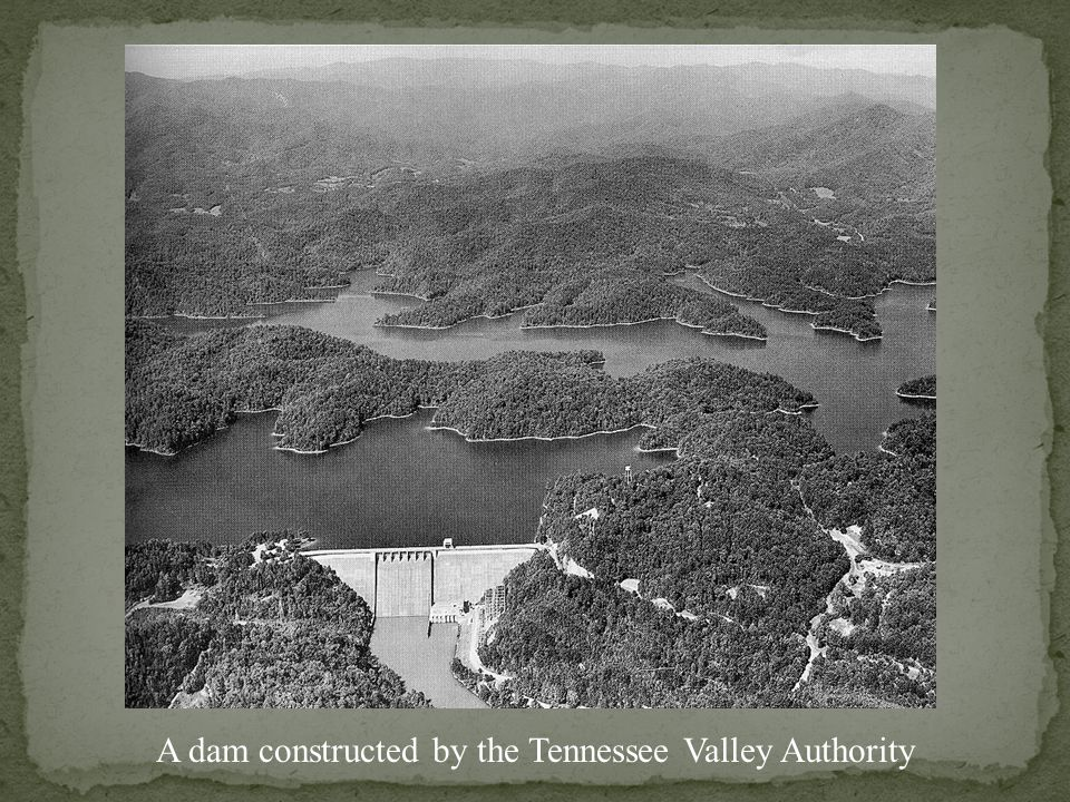 The Tennessee Valley Authority generated electricity for sale.