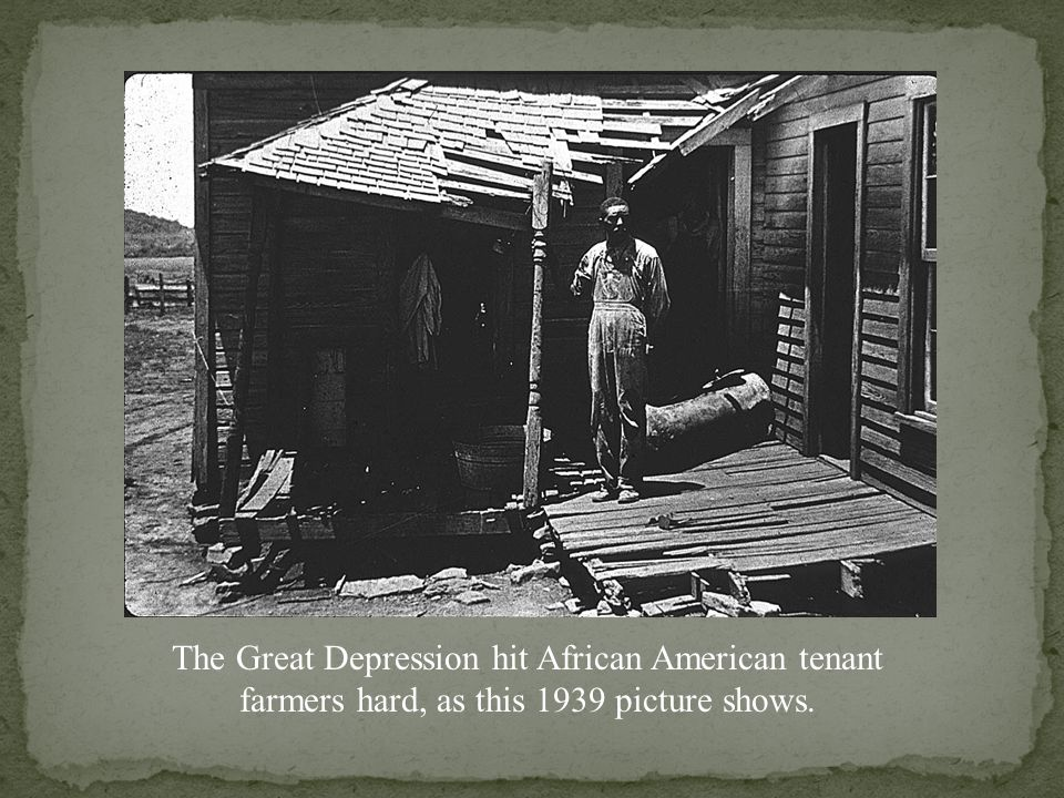 Farm laborers many had come to the US in the 20's but many where here prior to the Depression.