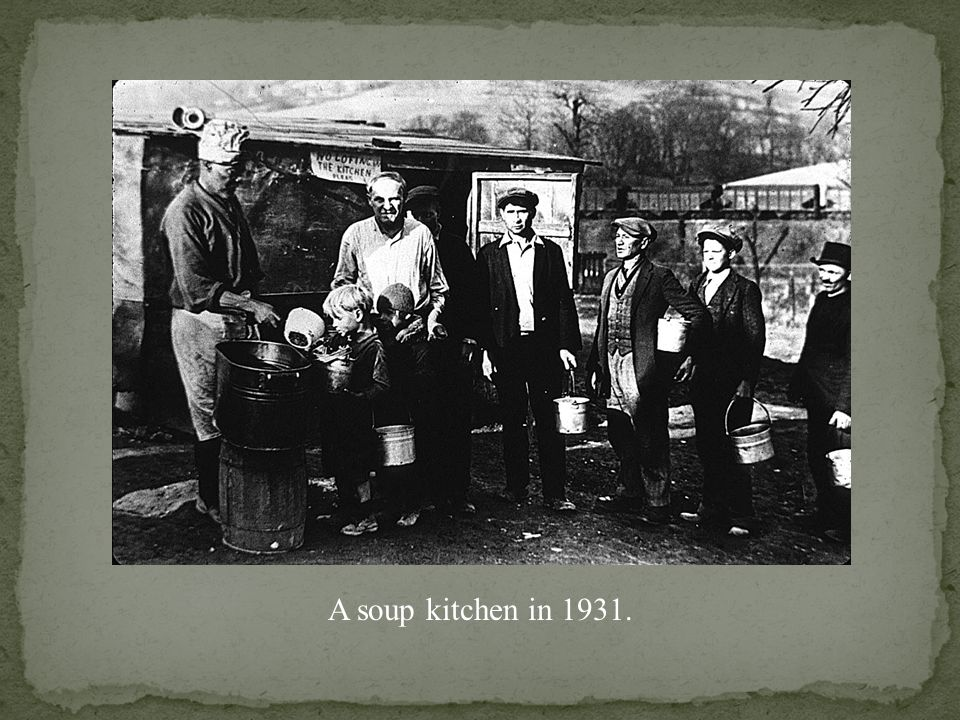 Soup kitchen to feed the unemployed in Chicago in 1930.