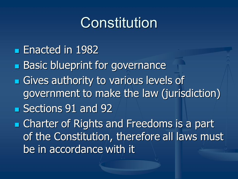 Statute Law A law passed by elected officials at either the federal or provincial level A law passed by elected officials at either the federal or provincial level Also includes municipal bylaws Also includes municipal bylaws Ex.