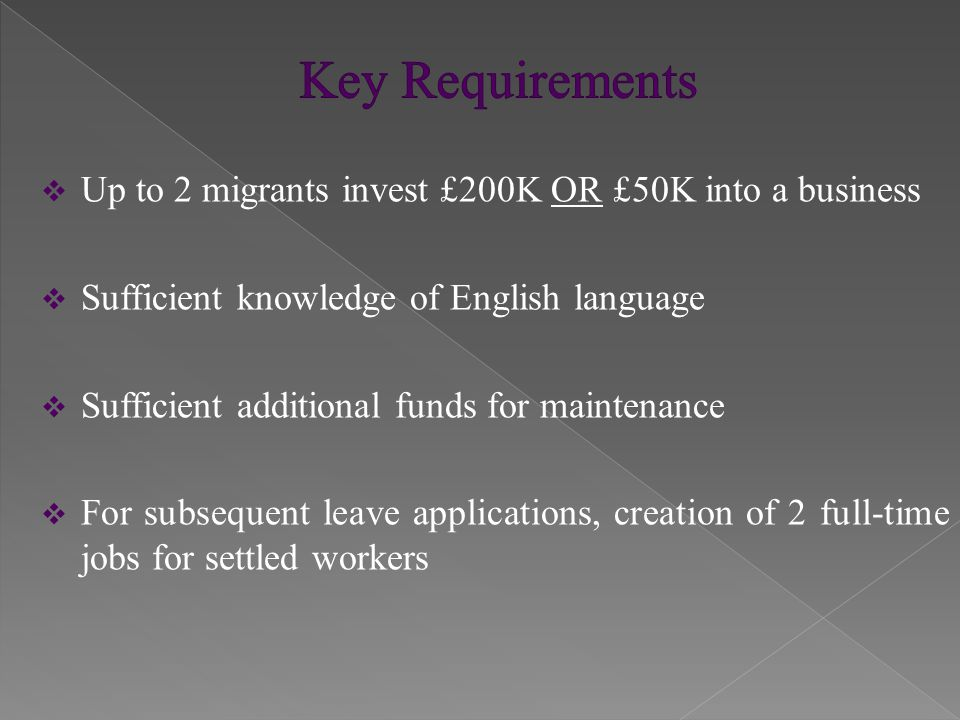  Initial Entry Clearance is granted for 3 years and 4 months  Initial Leave to Remain is granted for 3 years  Migrants must not take other employment in UK