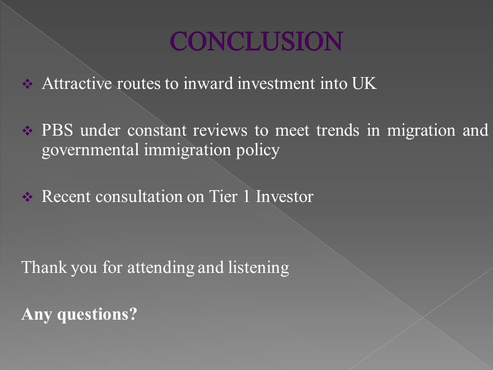 This presentation contains general information on UK immigration law and should not be taken as legal advice There are very detailed and specific requirements in addition to those set out in this presentation Satinder Gill Barrister 23 May 2014
