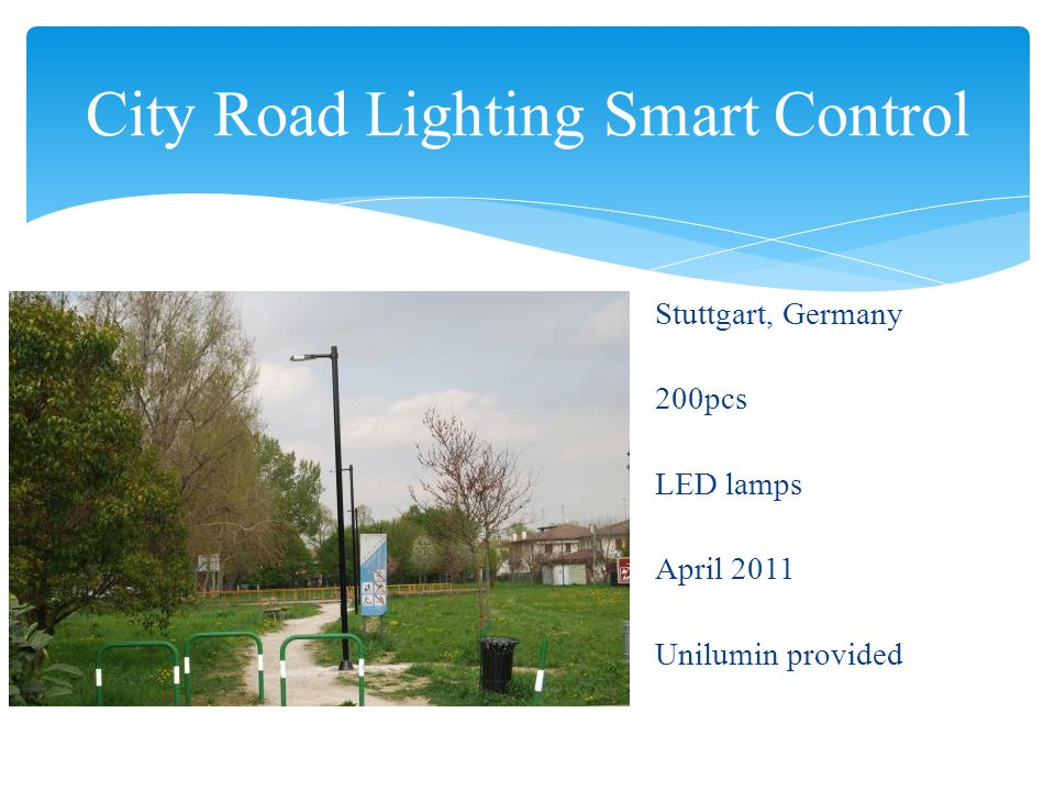 City Road Lighting Smart Control Istanbul, Turkey 2000pcs LED lamps May 2013 Client provided