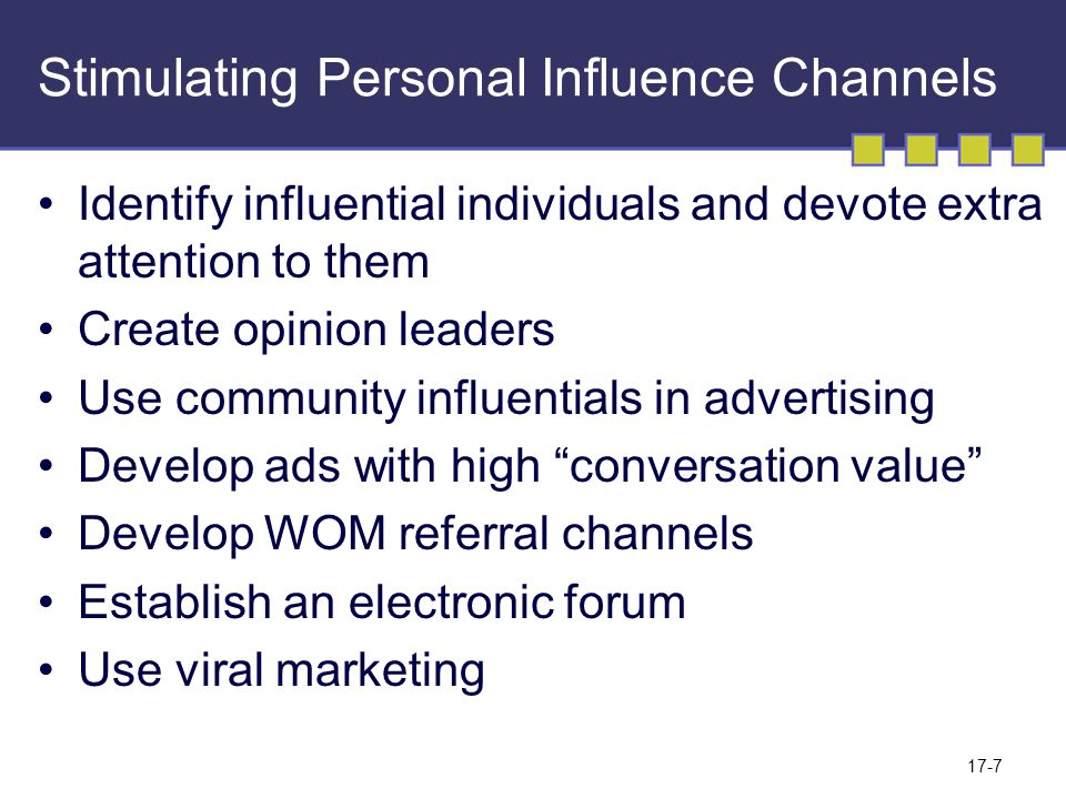 17-8 Nonpersonal Communication Channels Media Sales Promotion Events and Experiences Public Relations