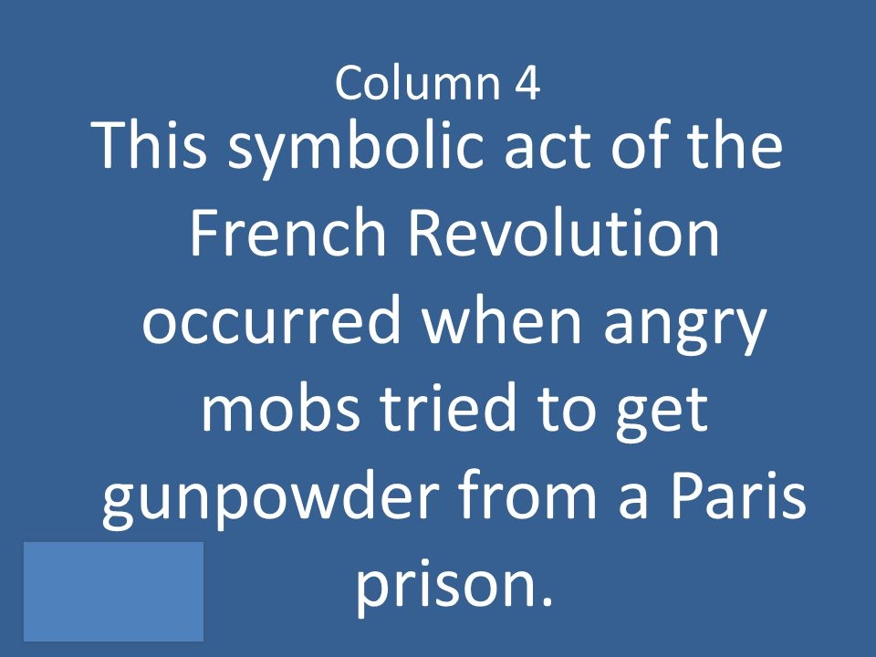 What is the Storming of the Bastille?