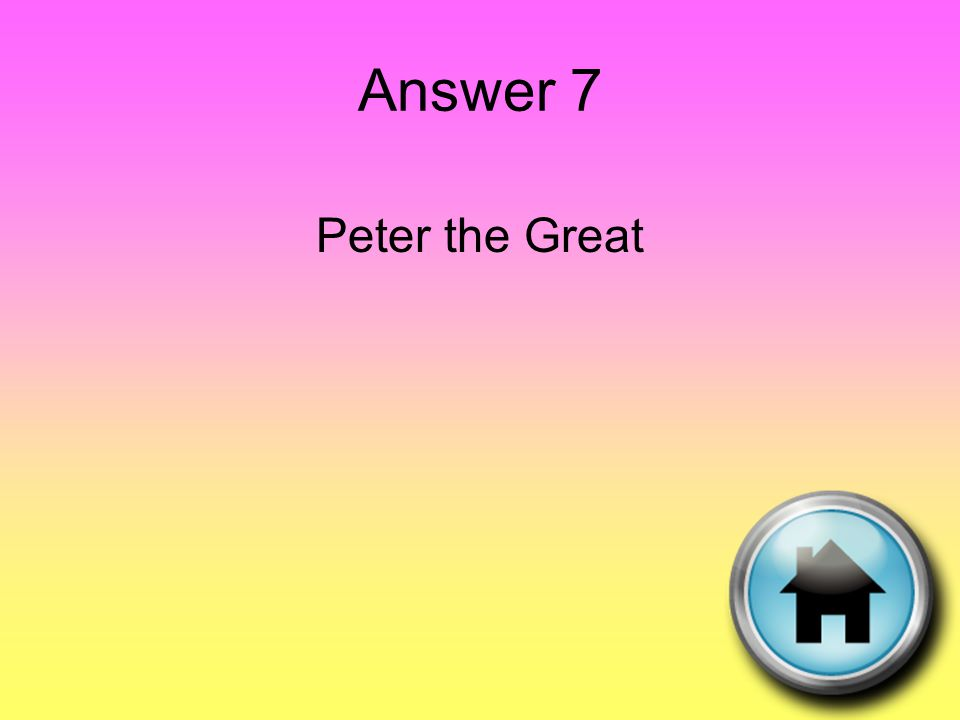 Question 8 The belief that people should be loyal mainly to their country. Love for one's country.