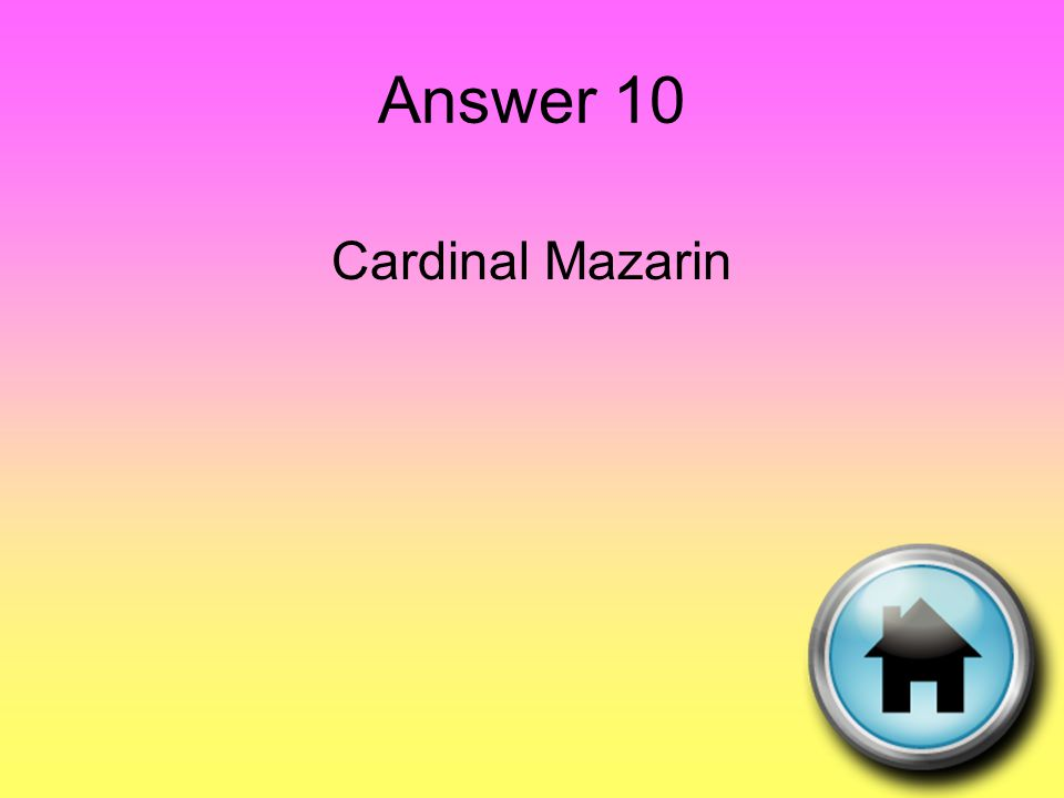 Question 11 Enlightened thinker who promoted the idea of separation of power and branches of government.