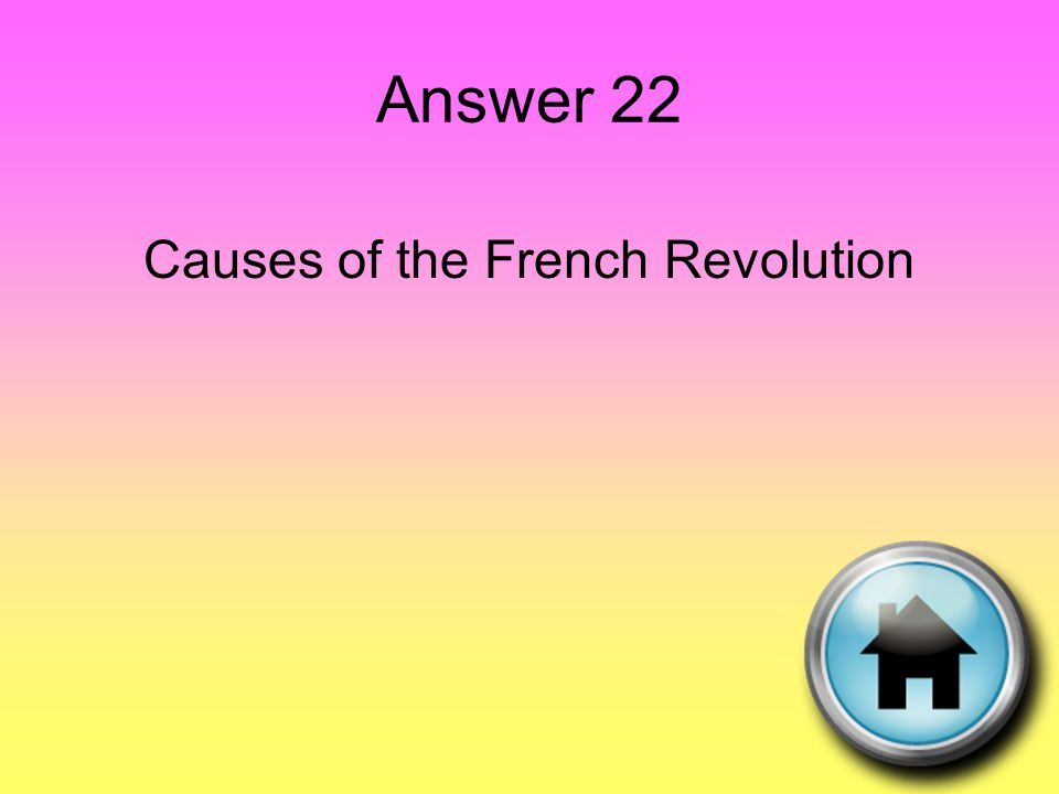 Question 23 The Sun King …..he was the ultimate absolute monarch