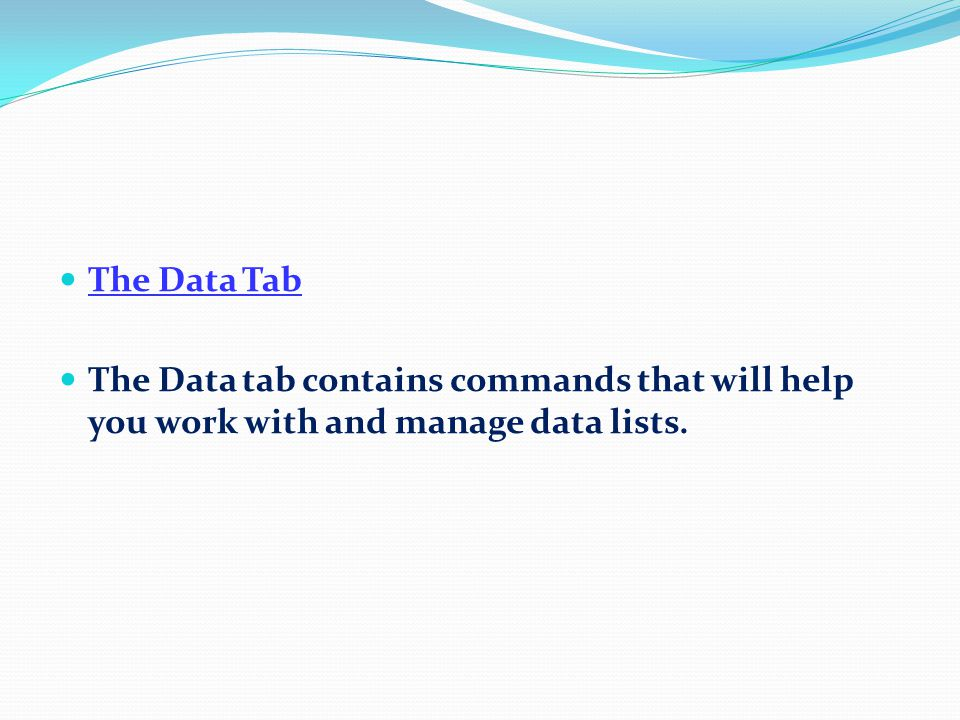 The Review Tab The Review tab contains commands that help you to proof your worksheet as well as annotating it with comments.