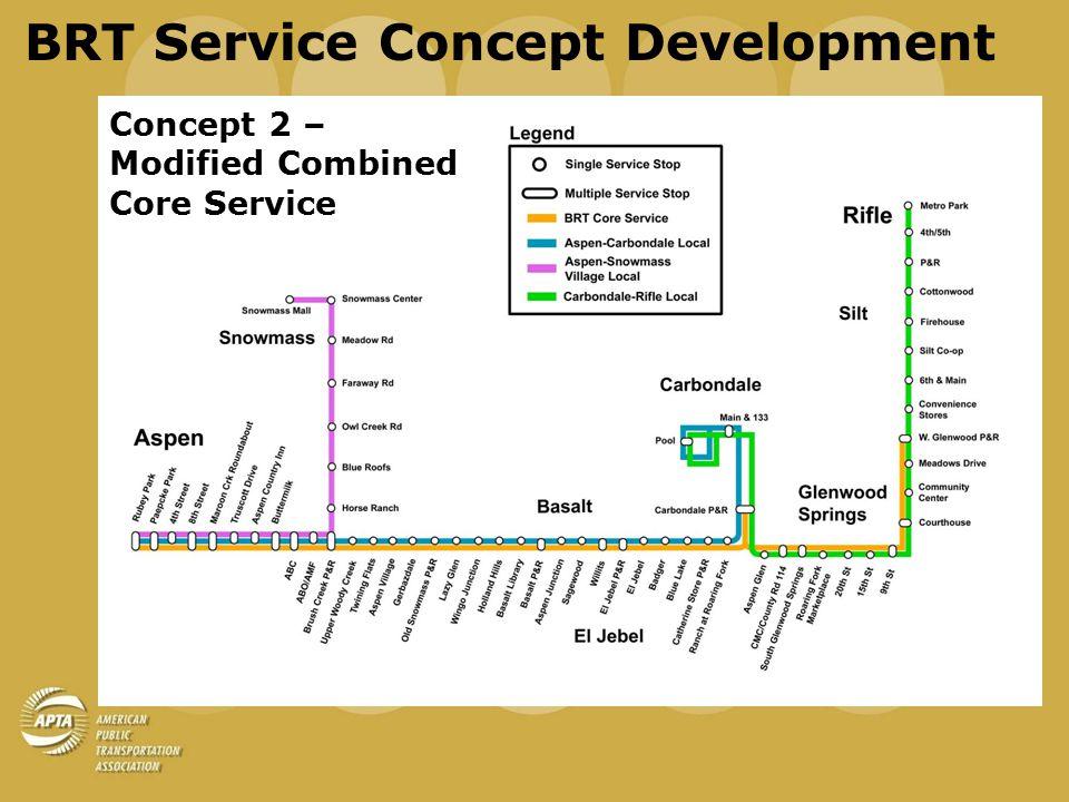 BRT Service Concept Development Concept 3 – Dual Core Service