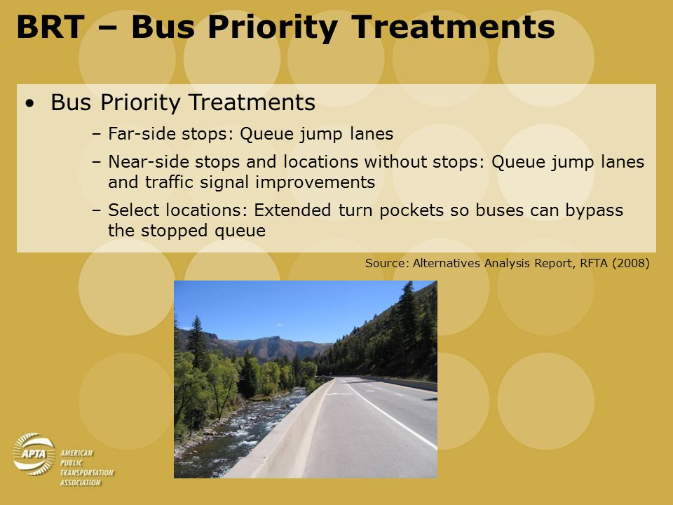 BRT Funding Options Potential Sources of Revenue: –Sales and use taxes –Annual motor vehicle registration fee –Visitor benefit tax –Potential new RFTA members –Fees, tolls, rates, and charges –Federal and state grant funding Source: RFTA Bus Rapid Transit Financial Plan, BBC (2008)