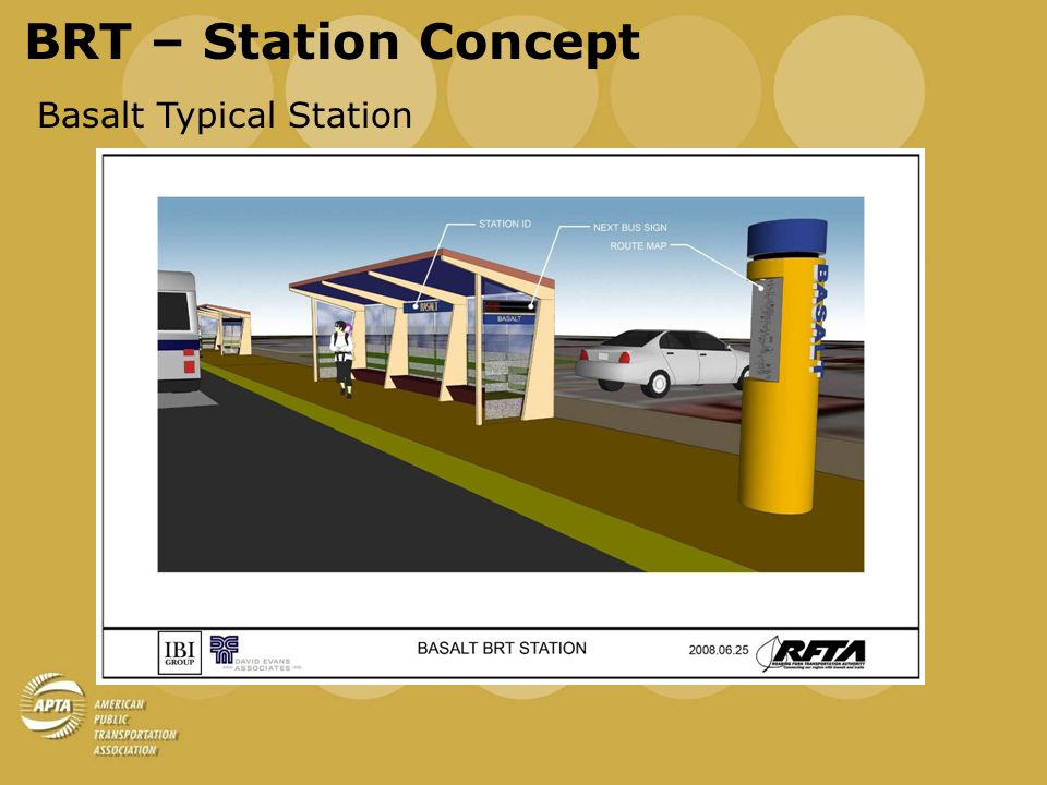 BRT – Phase 1 Cost Estimate Capital Investments Inflated Cost in Millions Estimated FTA Share 20102011 Buses$7.37$4.13 ITS$5.51$3.09 Bus Priority Improvements$2.54$1.42 Stations and Parking$28.70$1.86$12.94 Maintenance Facility Expansion $2.69$0.35$1.21 TOTAL Capital Investment $46.81 TOTAL Estimated Construction Cost $31.39 Sub-total Estimated FTA Share 2010-2011$10.85$14.15 TOTAL Estimated FTA Share 2010-2011$25.00