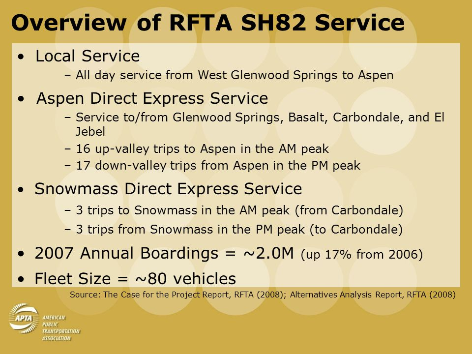 Overview of RFTA SH82 Service