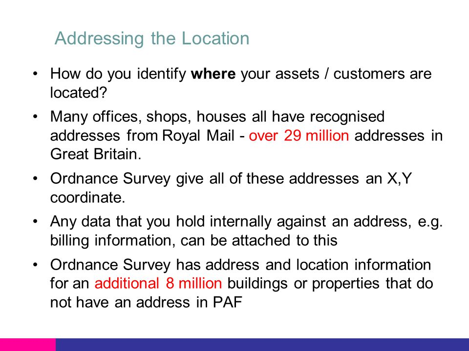 What is a Non Addressable Location.