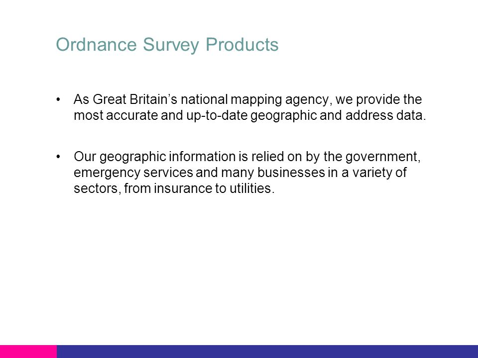 AddressBase™ Single Definitive Spatial Address base for Great Britain All the addresses where people live, work and play