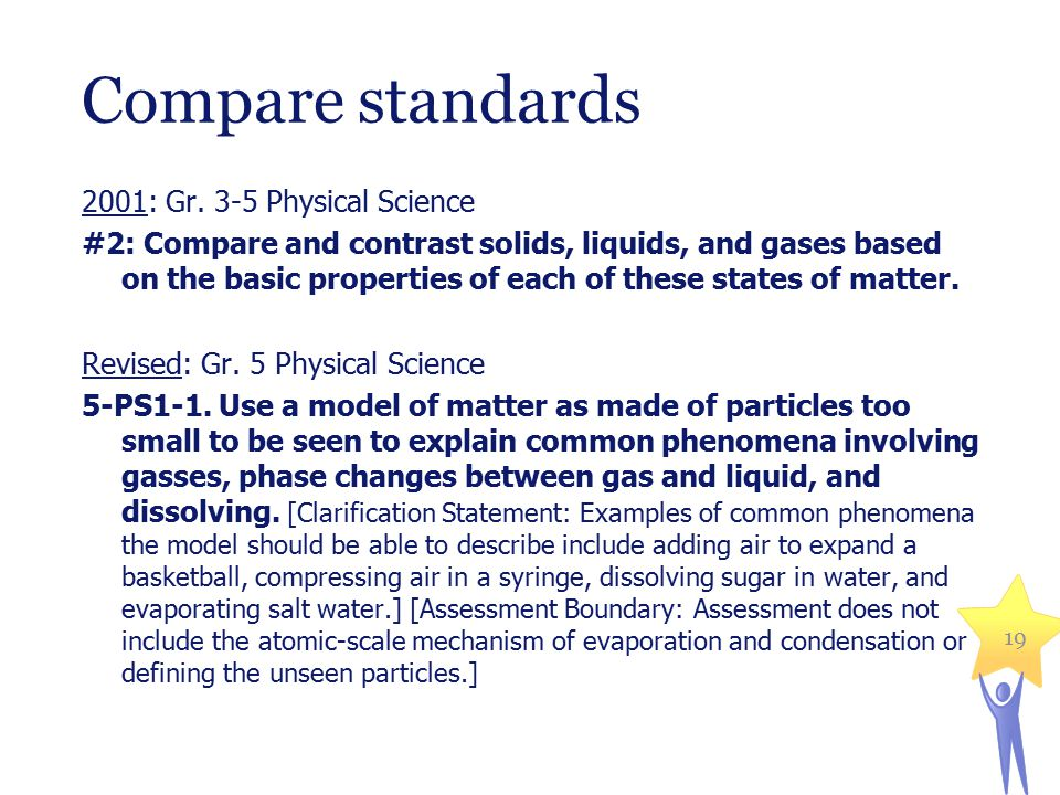 Compare standards 2001: Gr.6-8 Technology/Engineering #2.5.