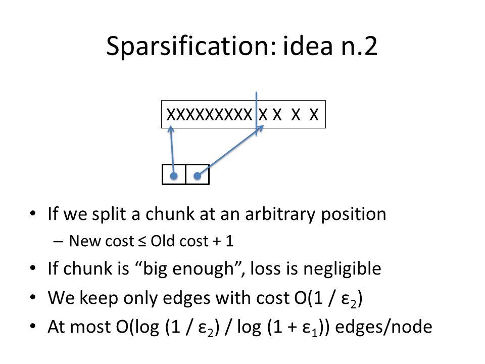 Sparsification Sparsified DAG has O(n log (1 / ε 2 ) / log (1 + ε 1 )) edges.