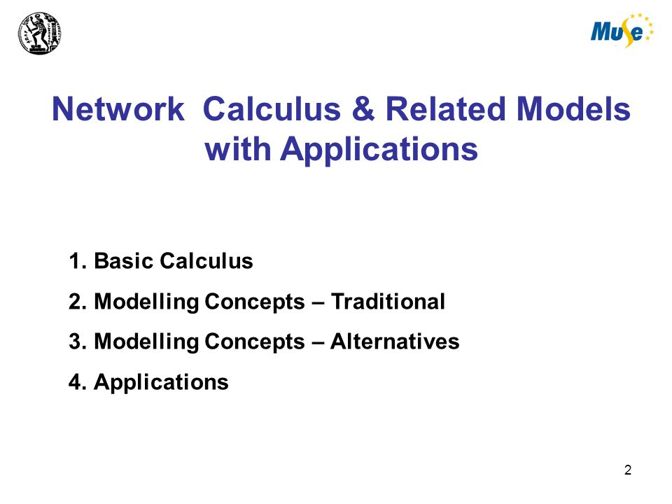 3 Network Calculus 'A Theory for Deterministic Queuing Systems' 'Deterministic Queuing Theory' for the Internet Basic Calculus