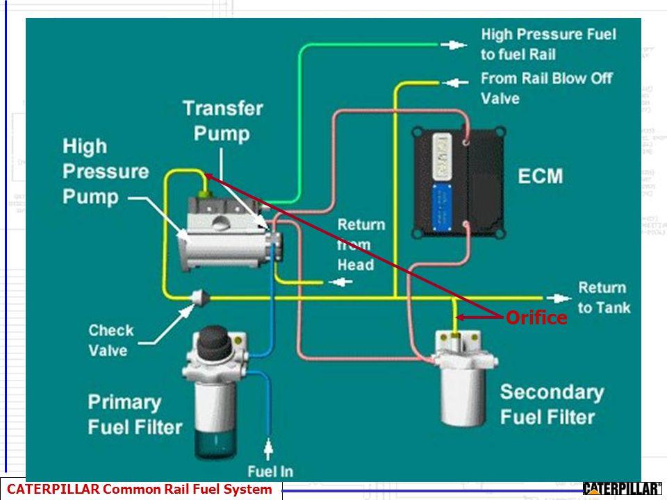 CATERPILLAR Common Rail Fuel System Electronic Control Module (ECM) ECM Controls: –Fuel Pressure –Speed Governing –Air/Fuel Ratio –Start/Stop Sequence –Engine Protection Devices/ Diagnostics