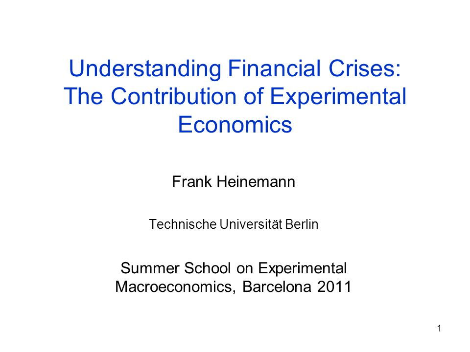 2 Structure 1.Phases of Financial Crises 2.Bubbles and Crashes: rational behavior.